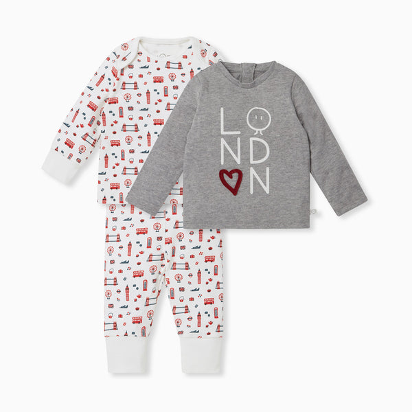 Little London Long Sleeve Tee 2 Pack & Leggings Outfit