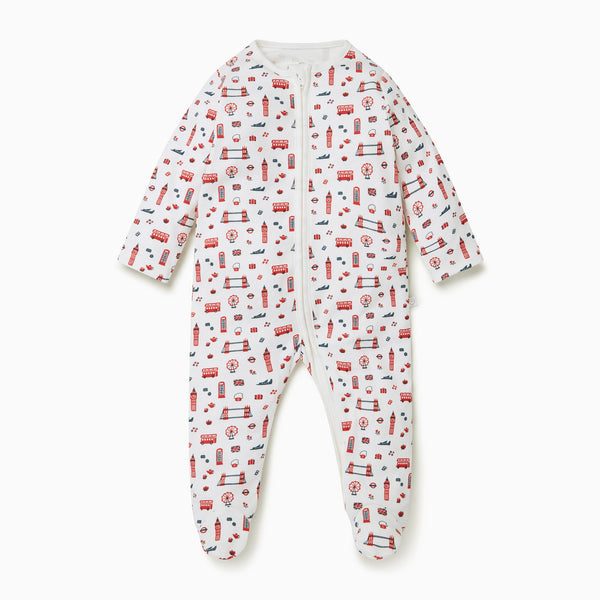 Little London Zip-Up Sleep & Play One-Piece