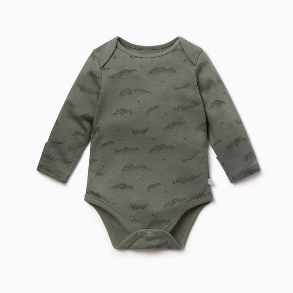 Khaki Cloud Long Sleeve Bodysuit