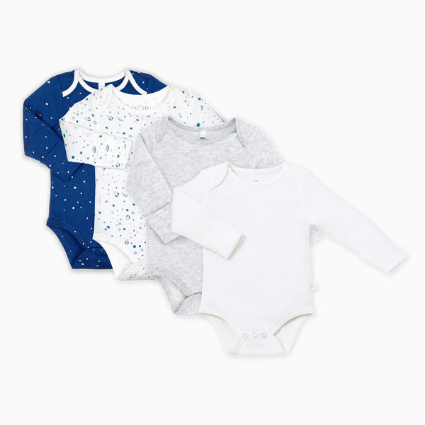 Night Sky Long Sleeve Bodysuit 4 Pack