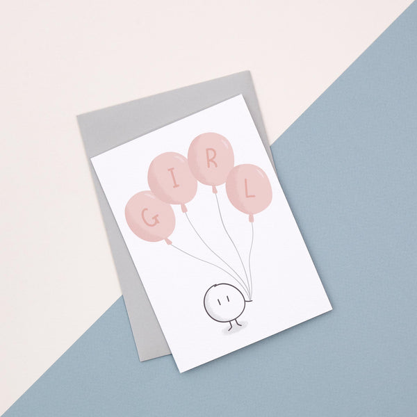 Pink Balloon Card