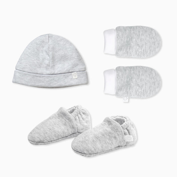 Baby Mittens, Booties & Hat Set