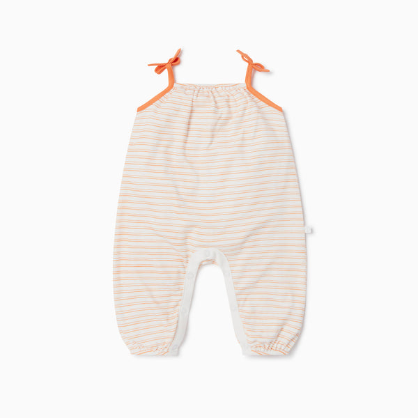 Orange Stripe Summer Jumpsuit
