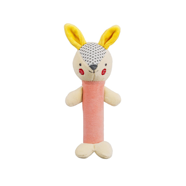 Petit Collage Bunny Squeaker Toy
