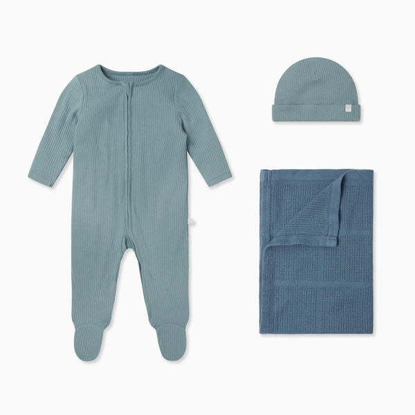 Ribbed Zip-Up Sleep & Play One-Piece & Accessory Set