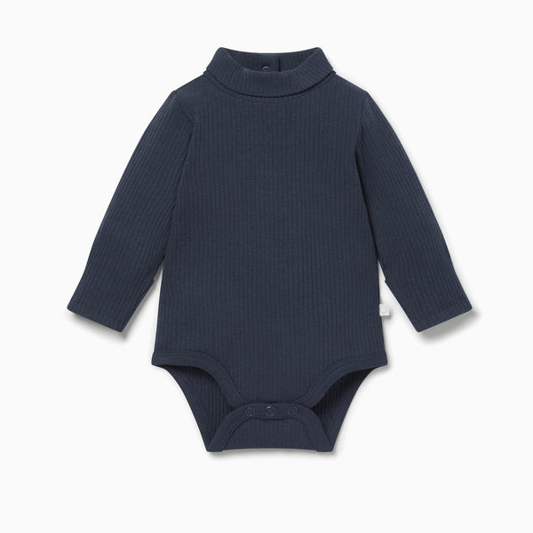 Ribbed Roll Neck Bodysuit