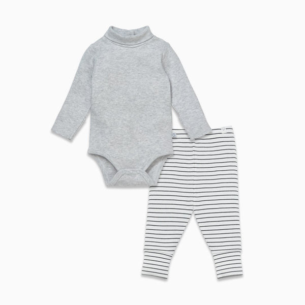 Roll Neck Bodysuit & Leggings Set