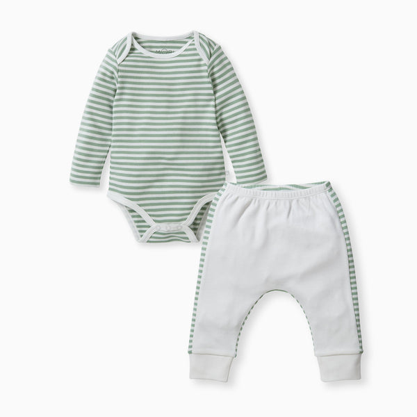 baby and toddler sage bodysuit and yoga pants