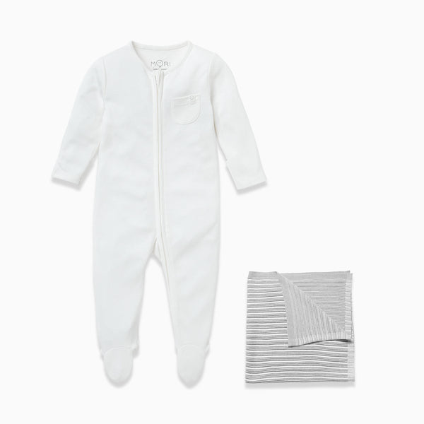 Silver Stripe Sleep & Snuggle Set