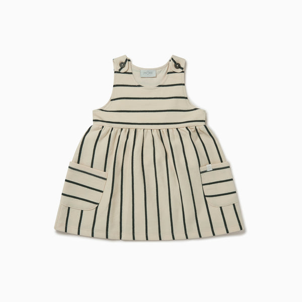 Striped Pinafore Dress