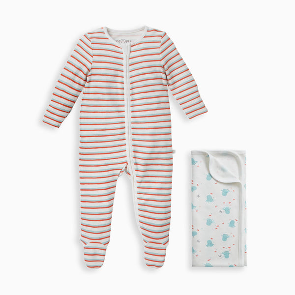 Reef Blanket and Zip-Up Sleep & Play One-Piece