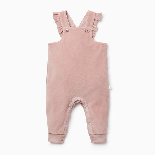 Velour Frill Dungaree Overalls