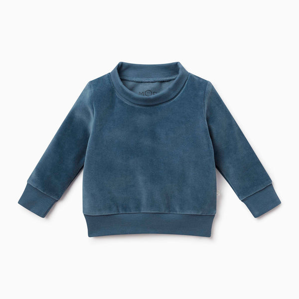 Velour High Neck Sweater