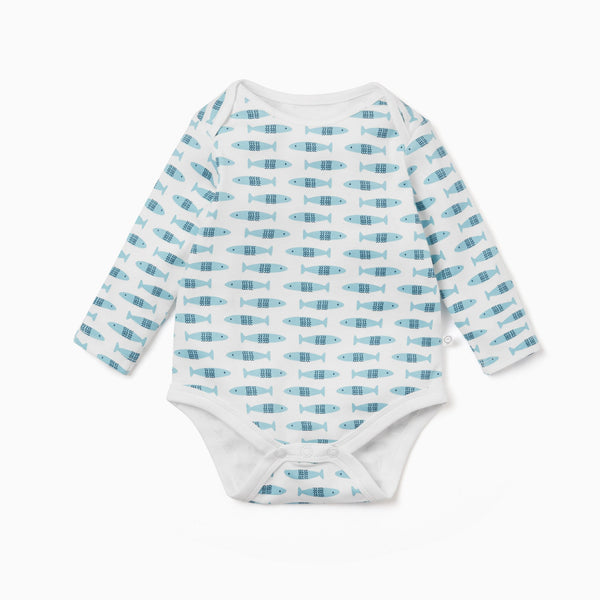 Little Fish Long Sleeve Bodysuit