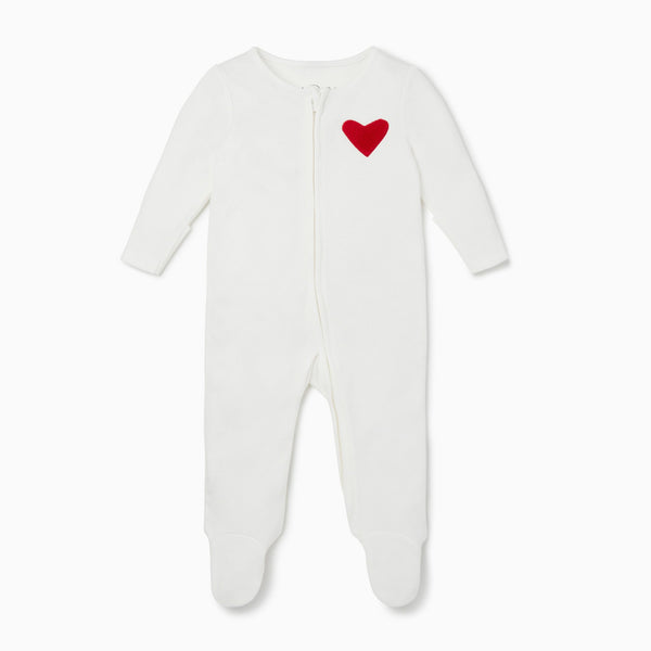 Hearts Zip-Up Sleep & Play One-Piece