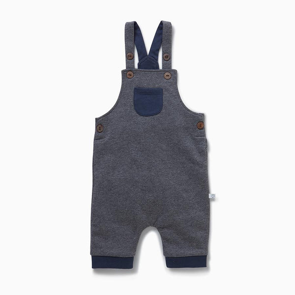 Dark Gray Dungaree Overalls