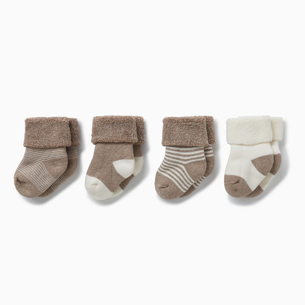 four baby and toddler milk & biscuit socks