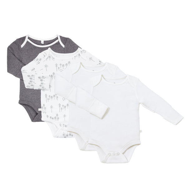 Lunar Long Sleeve Bodysuit 4-Pack