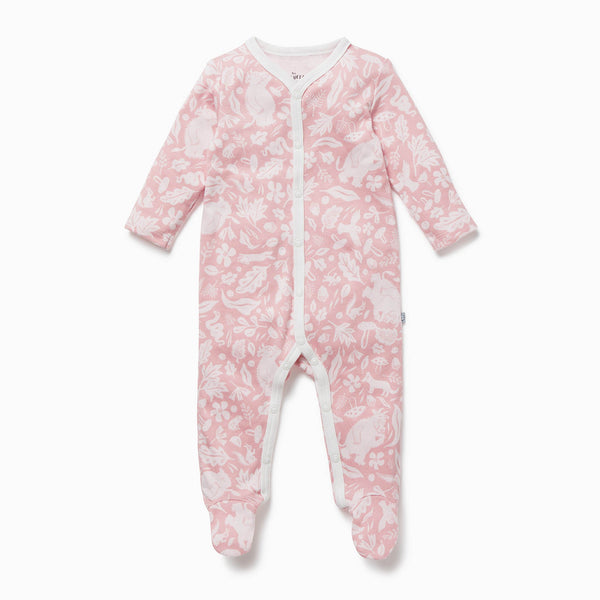 Gruffalo Foxglove Pink Snap-Up Sleep & Play One-Piece