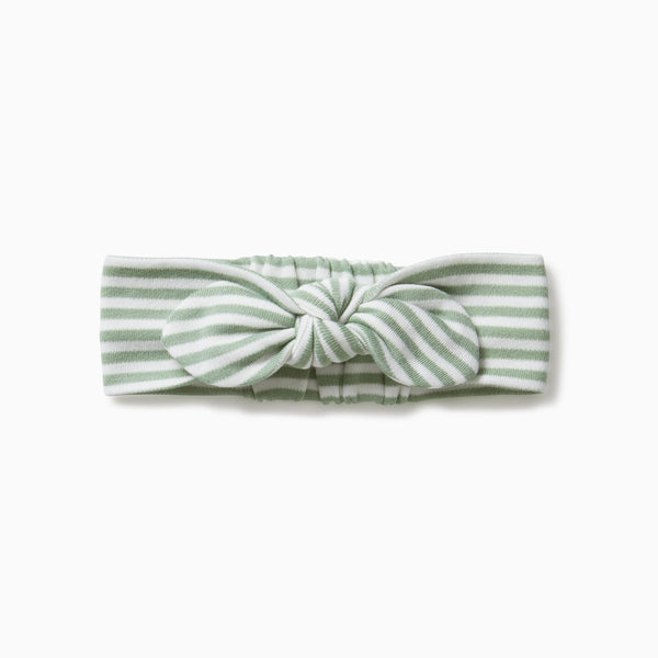 Sage Stripe Baby Headband