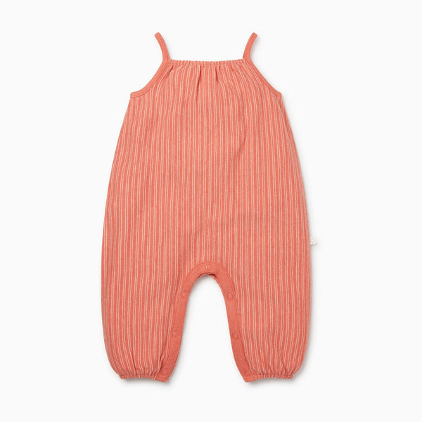 Coral Stripe Summer Jumpsuit