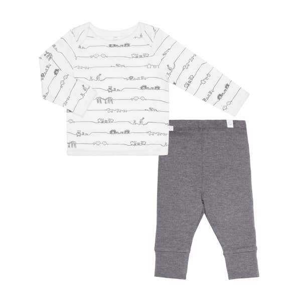Animal Family Tee & Lunar Legging Set
