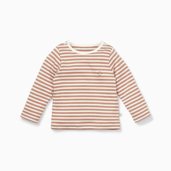 Caramel Stripe Long Sleeve Tee