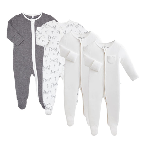 Lunar Zip-Up Sleep & Play One-Piece 4 Pack