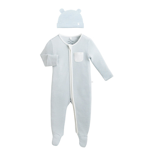 Baby Bear Hat & Zip-Up Sleep & Play One-Piece Set