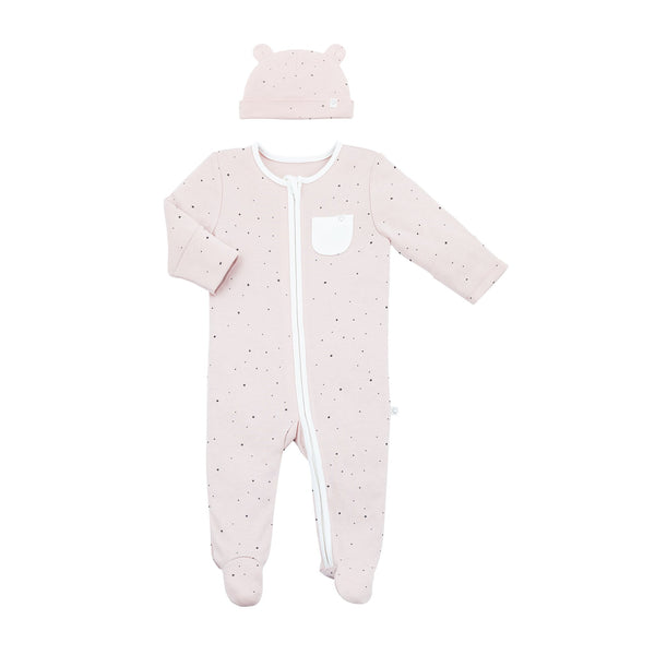 stardust baby sleepsuit and baby bear hat