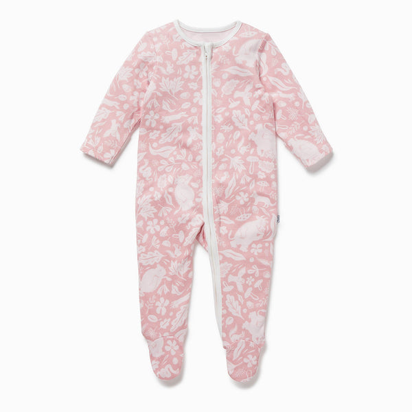 Gruffalo Foxglove Pink Zip-Up Sleep & Play One-Piece