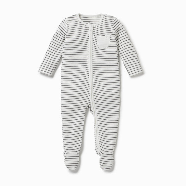 Personalized Zip Baby Pajamas