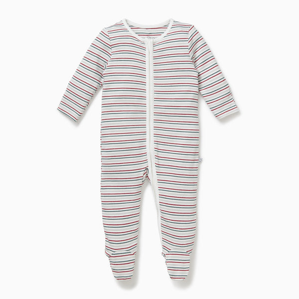 Sleepy Stripe Zip-Up Sleep & Play One-Piece