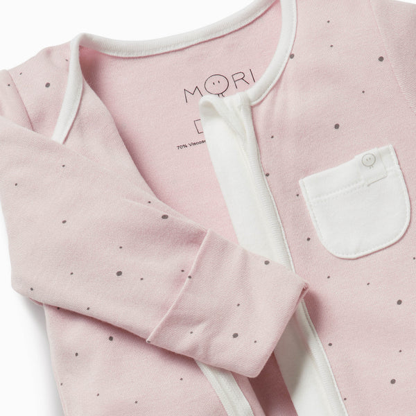 3-6 Months, Night Sky 30/% Organic Cotton /& 70/% Bamboo available from newborn up to 2 years MORI Zip-Up Sleepsuit