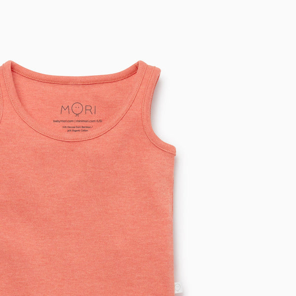 Coral Sleeveless Tank Bodysuit