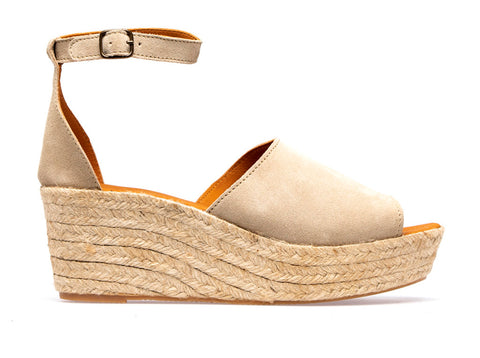 Lionel  L Espadrille Wedge | Sabbia - ndc-made-by-hand