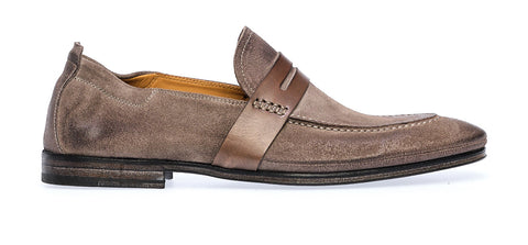 SACCHETTO LOAFER SADDLE | Piombo