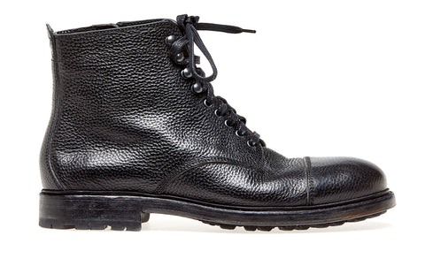 Timber High Boot Grain Calf | Nero