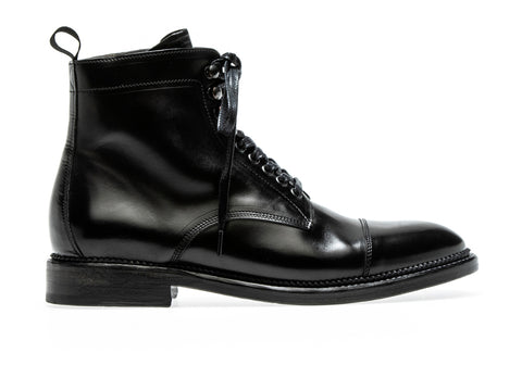 Claire Lace up boot AW19 | Nero - ndc-made-by-hand