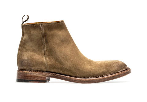 CLAIRE ZIP BOOT | Taupe - ndc-made-by-hand
