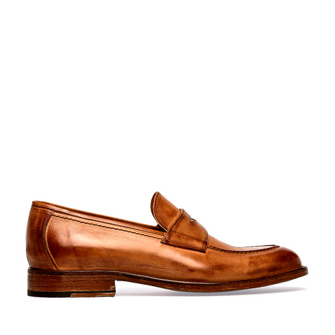 Crock Saddle Loafer | Brown 497