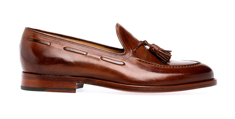 Crock Tassle Loafer | Brown 9 - ndc-made-by-hand