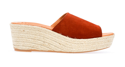 Agay  L Espadrille Wedge | Rust - ndc-made-by-hand