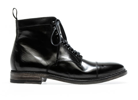 Stanley Lace up boot Berbero | Nero - ndc-made-by-hand