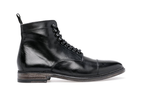Stanley Lace Up Boot  | Nero - ndc-made-by-hand