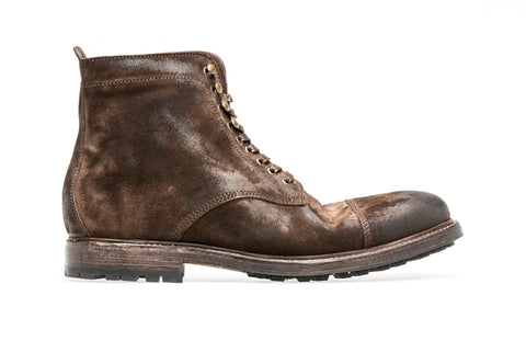 Timber Sheepskin Lace Up Boot Softy | Ebano - ndc-made-by-hand