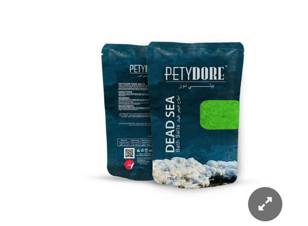 Petydore Bath Salts (4 Pouchs Package) Different Scents