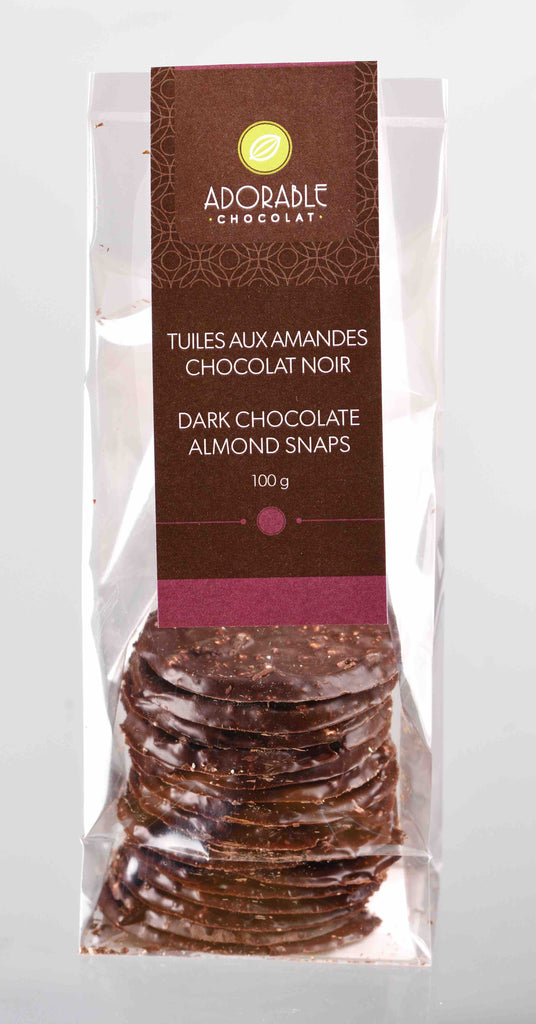Dark Chocolate Almond Snaps