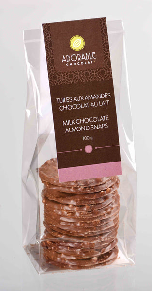 Tuiles Almond Snaps / Milk Chocolate