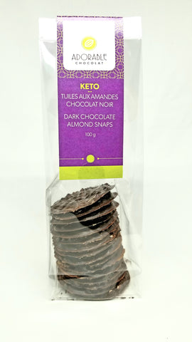 Keto / Tuiles dark chocolate snaps